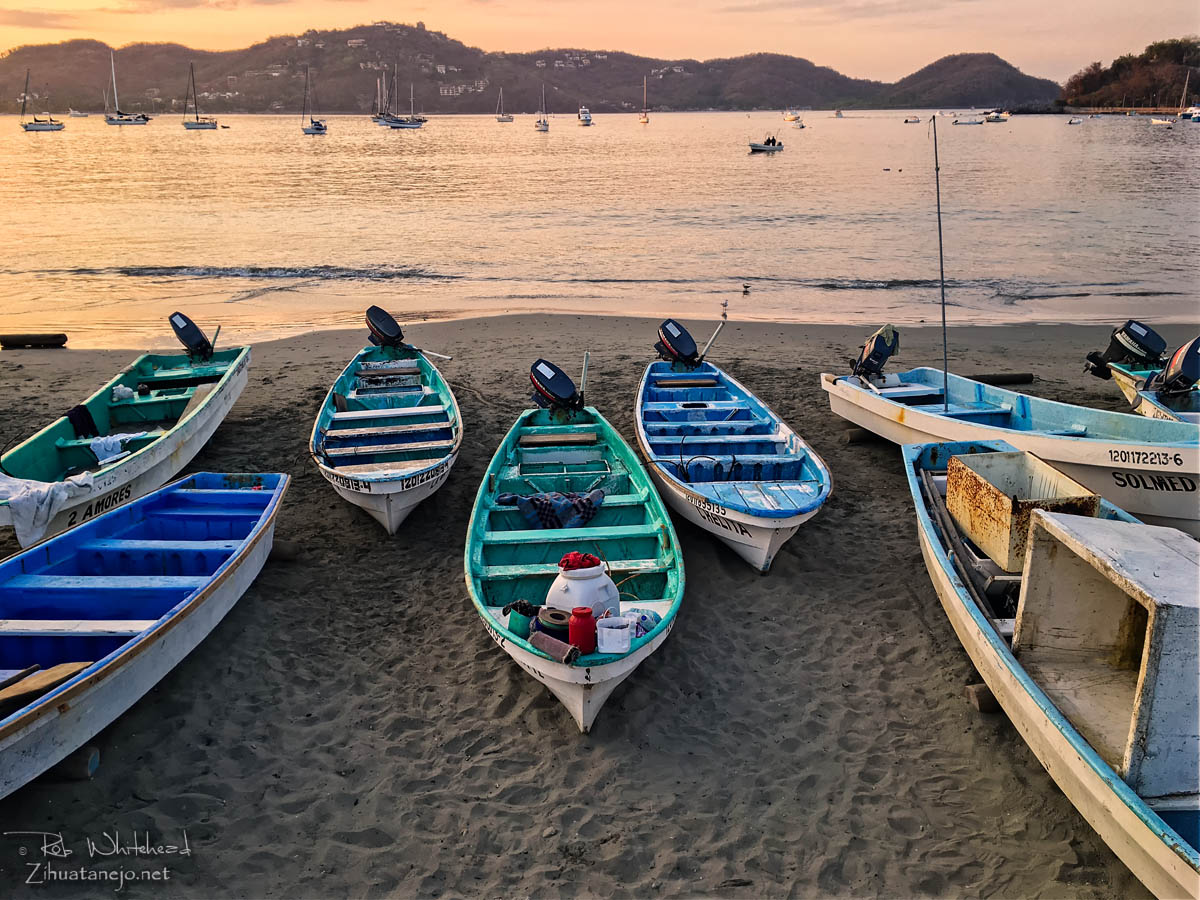 Fishing boats on the downtown beach, Zihuatanejo